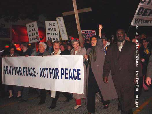 peace marchers 2002