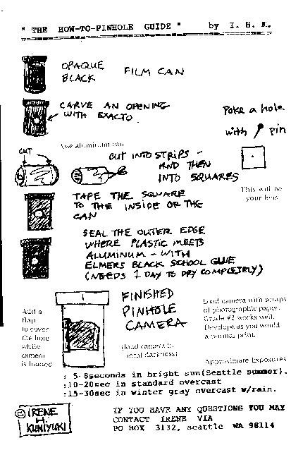 pinhole instructions
